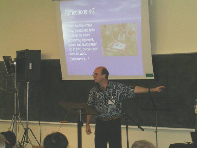 Presenting God's Project at the Wycliffe UK Conference 2005